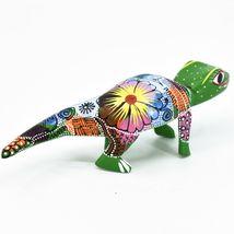 Handmade Alebrijes Oaxacan Wood Carving Painted Folk Art Alligator Figurine image 4