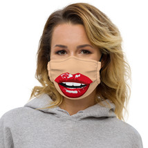 Women Face Funny Red Lips Womens  image 1