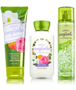 Bath & Body Works Sweet Magnolia Clementine 3-pc Set Cream, Lotion & Fin... - $31.82