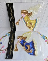 1990s 2 angel sequin appliques nip christmas b thumb200