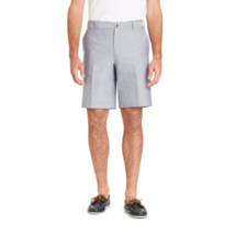 IZOD Men's Flat Front Shorts Newport Oxford Size 42W Cadet Navy 9.5 Inseam - $24.74