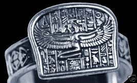 New Egyptian Isis Goddess silver Ring egypt Jewelry - $38.31