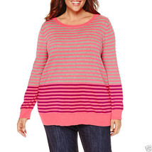 Liz Claiborne Long Sleeve Pullover Sweater Plus Size 1X, 2X New Msrp $48.00 - $14.99