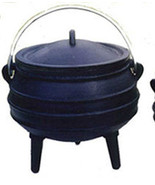Cauldron Cast iron Potjie pot Sz 3/4 Outdoor Survival 2 Qt Cookware Drui... - $56.00