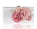 Rs handmade fabric flowers evening bag luxury wedding bride clutch bag pearl party thumb155 crop