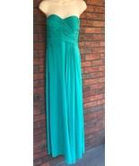 Gianni Bini Long Formal Strapless Gown Sz Small Emerald Green Wedding NWT - $60.78