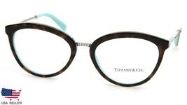 New Tiffany & Co Tf 2173 8134 Havana Blue Eyeglasses Frame 51-18-140mm B39 Italy - $123.74