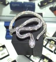 Diamant Fin Serpent Serti Bracelet 18K or Blanc 14.34CT - $17,985.42