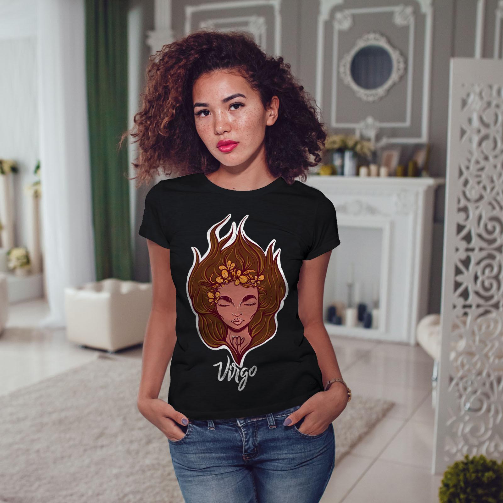 Virgo Shirt Zodiac Sign Women T-shirt image 3