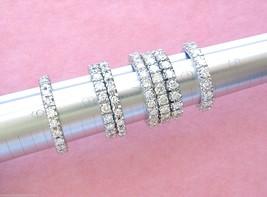 VINTAGE MID-CENTURY 1.55ctw DIAMOND PLATINUM ETERNITY BAND RING 1950 siz... - $2,058.21