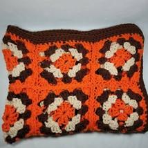 "Vintage Crochet Afghan Knit Blanket Throw Handmade Granny. 40""x60"" 70s 80s  - $29.99"