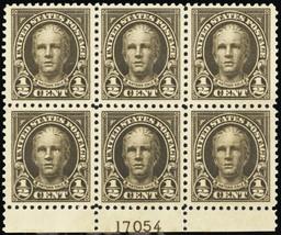551, Mint NH 1/2¢ VF Plate Block of Six Stamps Cat $25.00 - Stuart Katz - $16.95