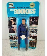 Vintage The Rookies Action Figure TERRY Police Officer Cop 1973 Blue Card - $69.99
