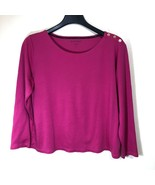 Ellen Tracy Knit Top with Gold Button Accents Womens Size XL - $24.74