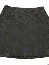 Ann Taylor Women's Petite Skirt Blue & Black Brocade Print Size 8P - $25.54