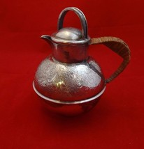 Silverplate Teapot with Basket Weave Handle and... - $50.15