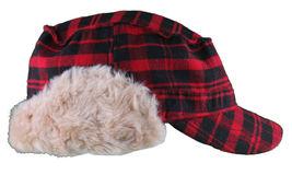 "Christys Crown ""Hunter"" Plaid Faux Shearling Ear Flap Cap Hat Medium/Large NWT image 4"