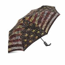 InterestPrint Sparkle American USA Flag Windproof Auto Open and Close Foldable U - $25.73