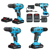 21V Cordless Power Drill 2 Speed Electric Screwdriver With 2 Multipurpos... - $72.88