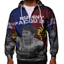 Manny Pacquiao Pac Man World Boxing Champion Philippines New Men's Zippe... - $49.99+