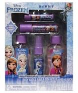MZB* 5pc Set DISNEY FROZEN Body Wash+Bubble+Mist+Shimmer+Lip Balm FROSTE... - $7.00