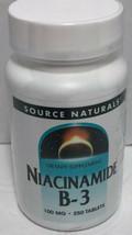 Source Naturals Niacinamide B-3 New 250 Tablets 100 Mg - $19.87