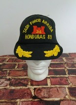 Task Force Arriba Honduras 89 Black Cap Hat One Size Joint Military Truc... - $19.59