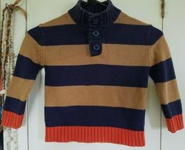 Genuine Kids Oshkosh Cotton Striped Turtleneck Sweater SIZE-3,3T,36 Months - $12.00