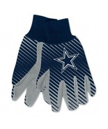 DALLAS COWBOYS ADULT TWO TONE SPORT UTILITY GLOVES NEW & OFFICIALLY LICE... - $8.75