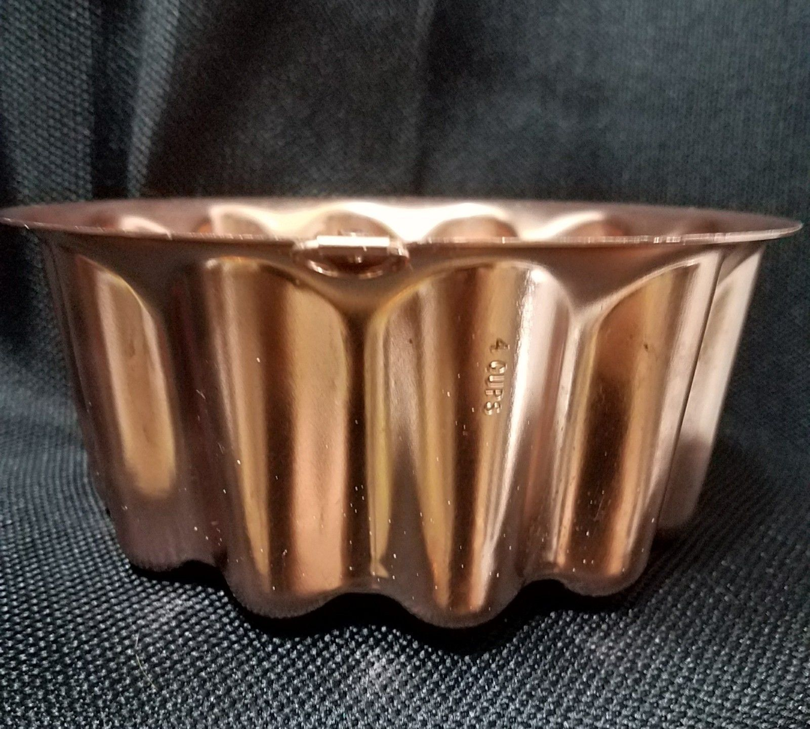 Vintage Copper Mold Round Bubbles 4 Cup Ready To Hang