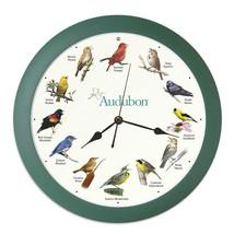 """Audubon Singing Bird Clock - 13"""" Green - $36.97"""