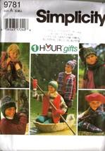 UNCUT 1-HOUR Simplicity Pattern 9781 Child's Accessories, Sz S-M-L - $12.99