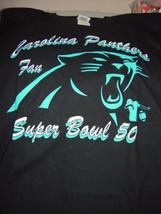 Carolina Panthers Fan Super Bowl 50 Black T-Shirt Size Large - $22.00
