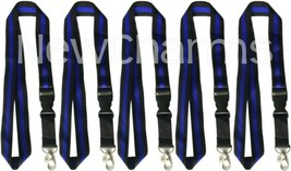 5 LANYARDS w/ Detachable Key Chain Thin Blue Line Police Officer Law Enf... - $10.77