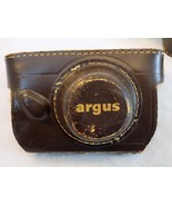 ARGUS C3 CAMERA 1955 VINTAGE 50m COLOR-MATIC W/COATED CINTAR LENS & LEAT... - $79.19