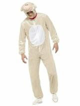 Smiffys Cordero Oveja Mono Peludo Animales Adulto Unisex Disfraz Hallowe... - $48.99