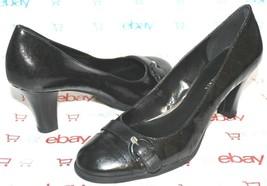 ❤️ETIENNE AIGNER Margaux Coated Logo Canvas Leather Pumps 8 M EXCELLENT!... - $23.74