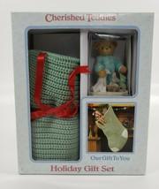 Cherished Teddies Holiday Gift Set 864307 Sonny Getting Ready For Santa'... - $19.79