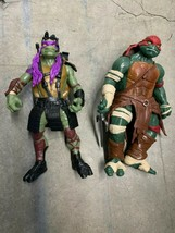 """TMNT 2014 Raphael Donatello figures Playmates Ninja Turtle 12"""" figures - $14.85"""