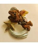BOYDS BEAR PIN SHOOTING STAR FLYING ANGEL BROOCH J527 - $6.64