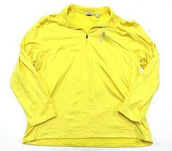 NWT IZOD Perform Yellow Outerwear Jacket Pullover 1/4 Zip Men's Size XX-... - $39.55