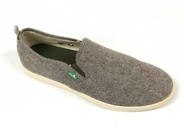Sanuk Men's Range Tx Olive Chambray Grey Casual Slip On Loafer Sidewalk Surfer - $39.99