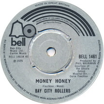 "Bay City Rollers 7"" vinyl single record Money Honey - 4pr UK BELL1461 - $4.38"