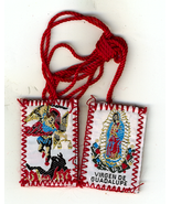 Red Scapular of Our Lady of Guadalupe / St. Michael - $2.29
