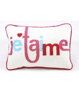 "Celebrate Shop Je T'aime 13"" x 9"" Decorative Pillow Red NWT - $13.36"
