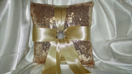 SEQUIN RINGBEARER PILLOW- Color of Choice- and/or Flower Girl Basket - C... - $17.00