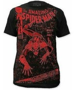 SPIDERMAN SPIDER OR THE MAN MARVEL SUPERHERO MOVIE COMIC SUBWAY T SHIRT ... - $22.67