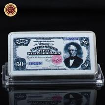 WR $50 1891 Silver Certificate US Banknote Printed Silver Ingot Bar Uniq... - $4.99