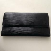 Louis Vuitton Black Epi Leather Sarah Trii-Fold Long Wallet 7.5inx4.5in ... - $237.45