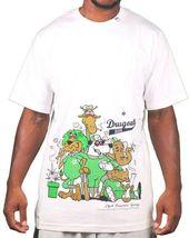 LRG Mens Black White Natural Drugout Kids Weed Smoking Animals T-Shirt NWT image 6